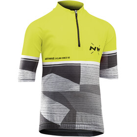 Northwave Origin SS Jersey Juniors yellow fluo/green